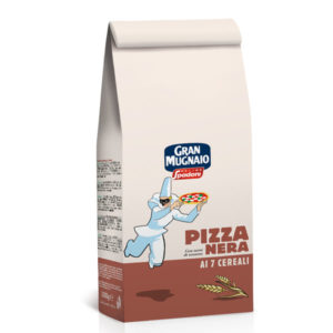 Pizza Nera ai 7 cereali