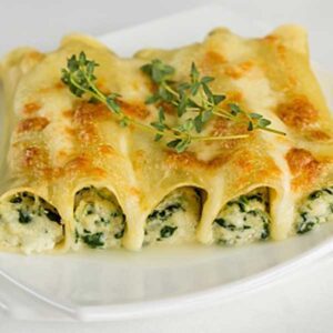 Cannelloni ricotta cremosa e spinaci